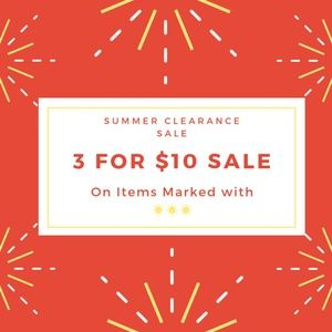 Summer Clearance Items